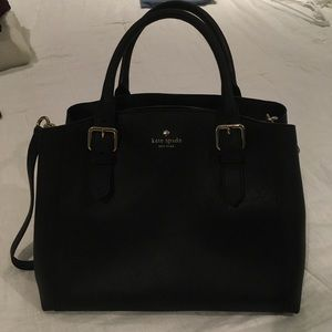 Black Kate Spade Coated Leather Purse